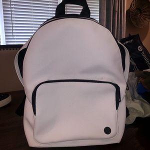 White lulu backpack